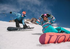 Kids Snowboarding Lessons (up to 9 y.) with Equipment with BoardStars Snowboardschule Schladming