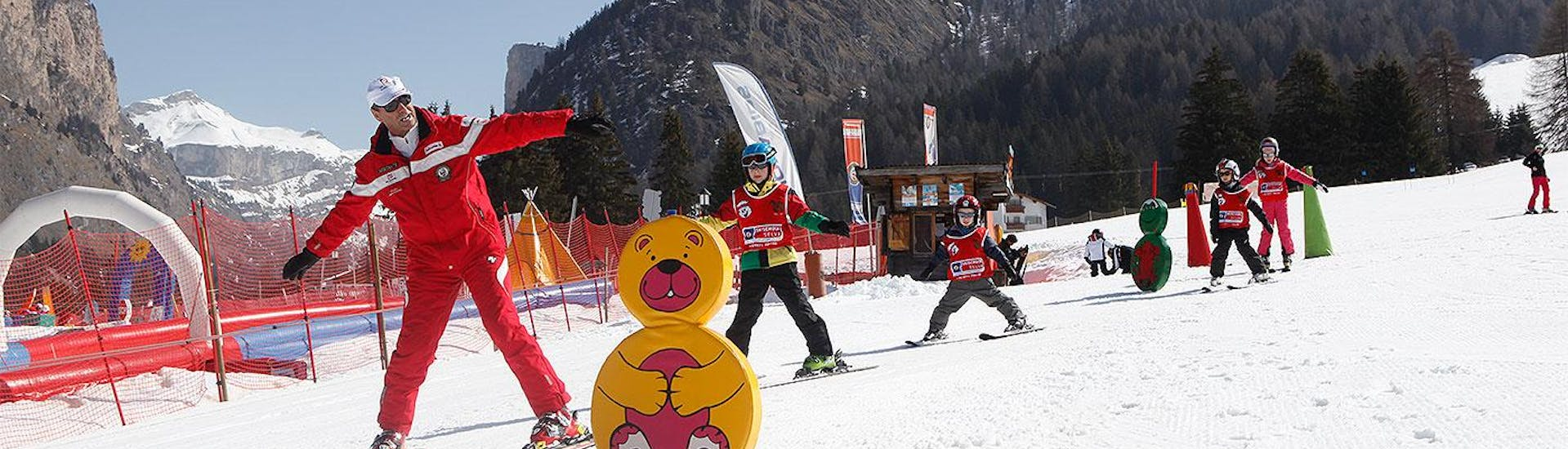 Kids Ski Lessons for Beginners (4-12 y.) - Half-Day with Ski and Snowboard School Selva Val Gardena - Hero image