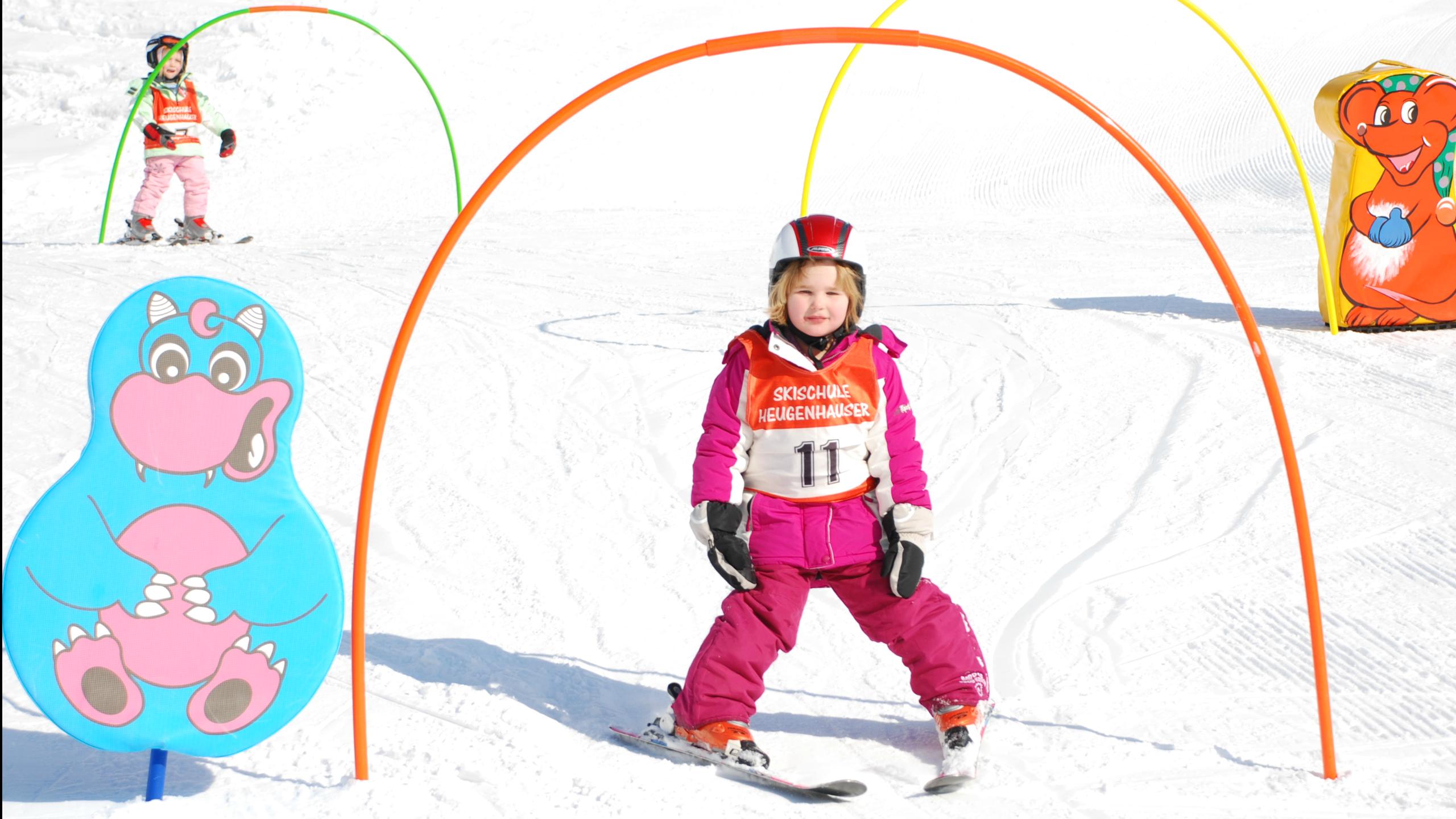Clases de esquí para niños para principiantes