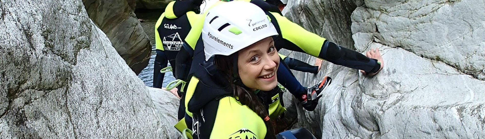 Family Canyoning in Corippo in Ticino with Purelements Ticino - Hero image