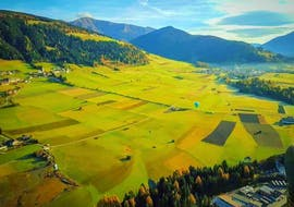 Hot Air Balloon Flight over Val Pusteria in Summer
