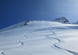 Private lessons in different snow types on slope