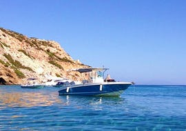 Stop at one of the Islands during the Antiparos Boat Tour from Paros with G3 boats.