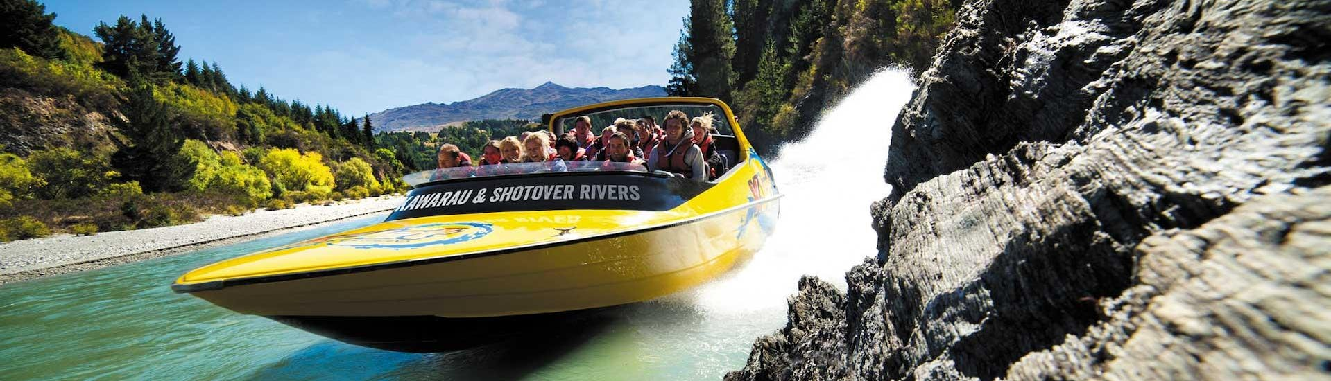 Guests are experiencing that the jet boat ride on Shotover River with KJet Queenstown is full of thrills and adrenaline.
