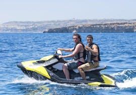 Jet Ski in Armier Bay in Mellieha with Palm Beach Water Sports Malta