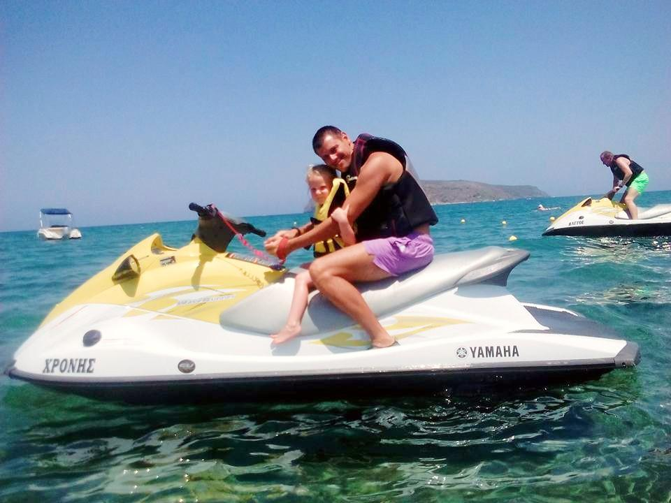 Jet Ski on Troulakis Beach in Agia Marina (Chania)
