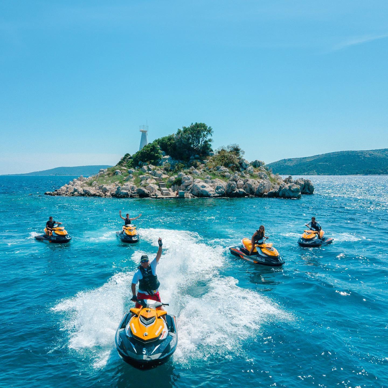 Jet Ski Safari to the Blue Lagoon on Drvenik Veli Island