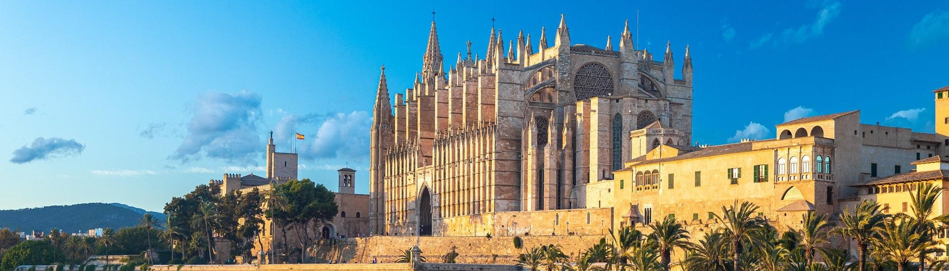 View of the cathedral as you set off on a jet ski in Palma de Mallorca.