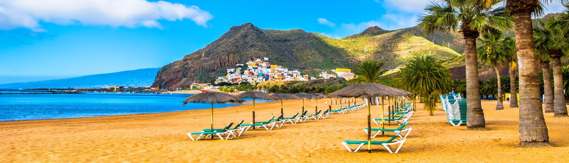 An image of Las Teresitas beach where people can raide a jet ski or do other water sports activities in Tenerife.
