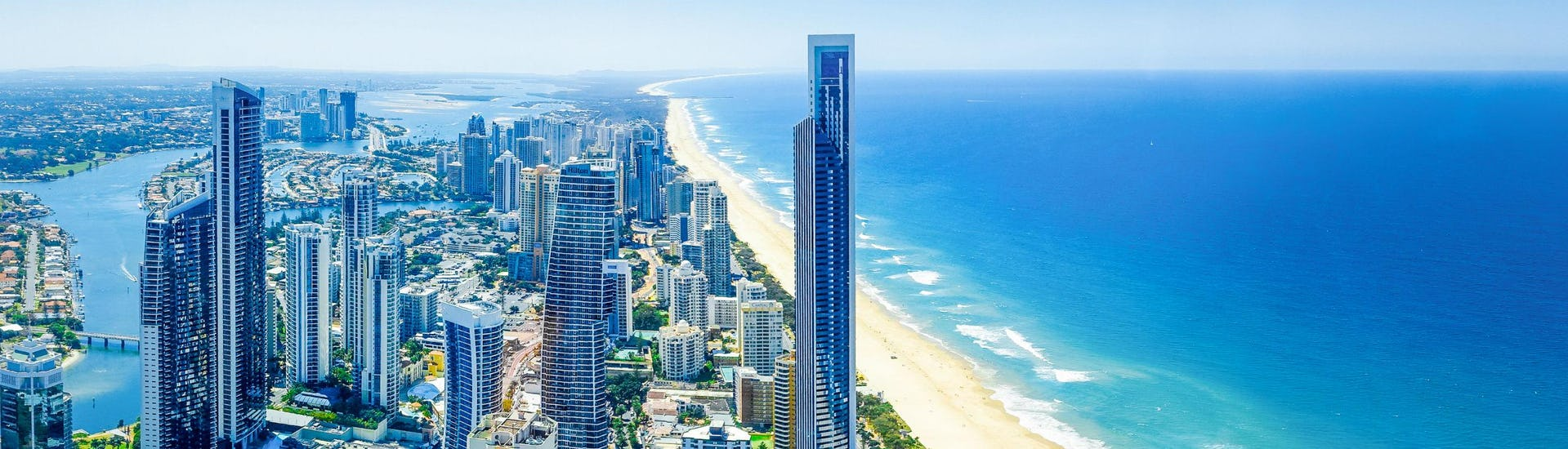 An image of Surfers Paradise with its impressive skyline, a sight that can be taken in by visitors who go kayaking in Gold Coast.