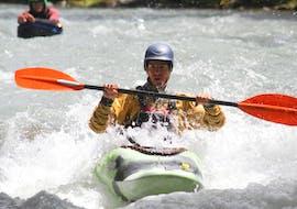 Cours de kayak sur le lac du Vernex