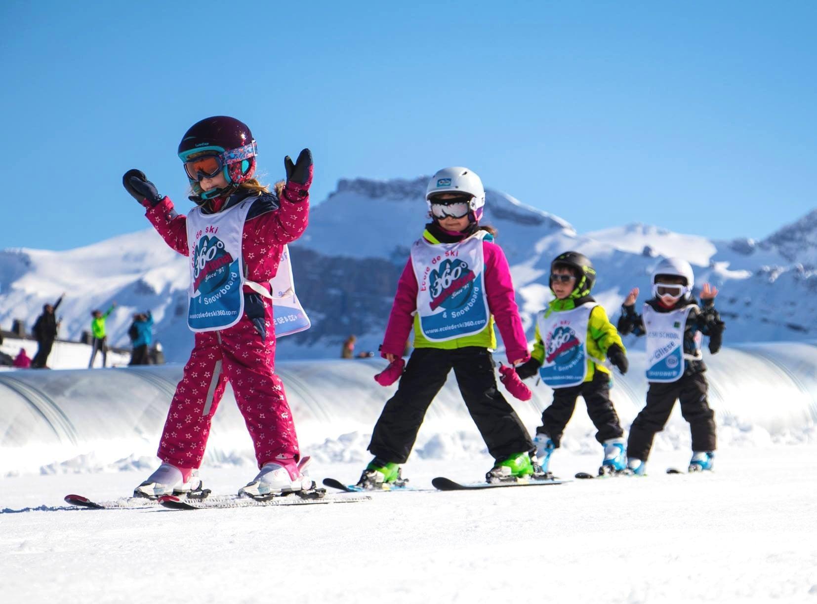 1er Cours de ski Enfants (4-8 ans) - Haute saison - Matin
