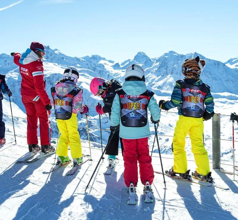 Clases de esquí para niños a partir de 5 años con experiencia