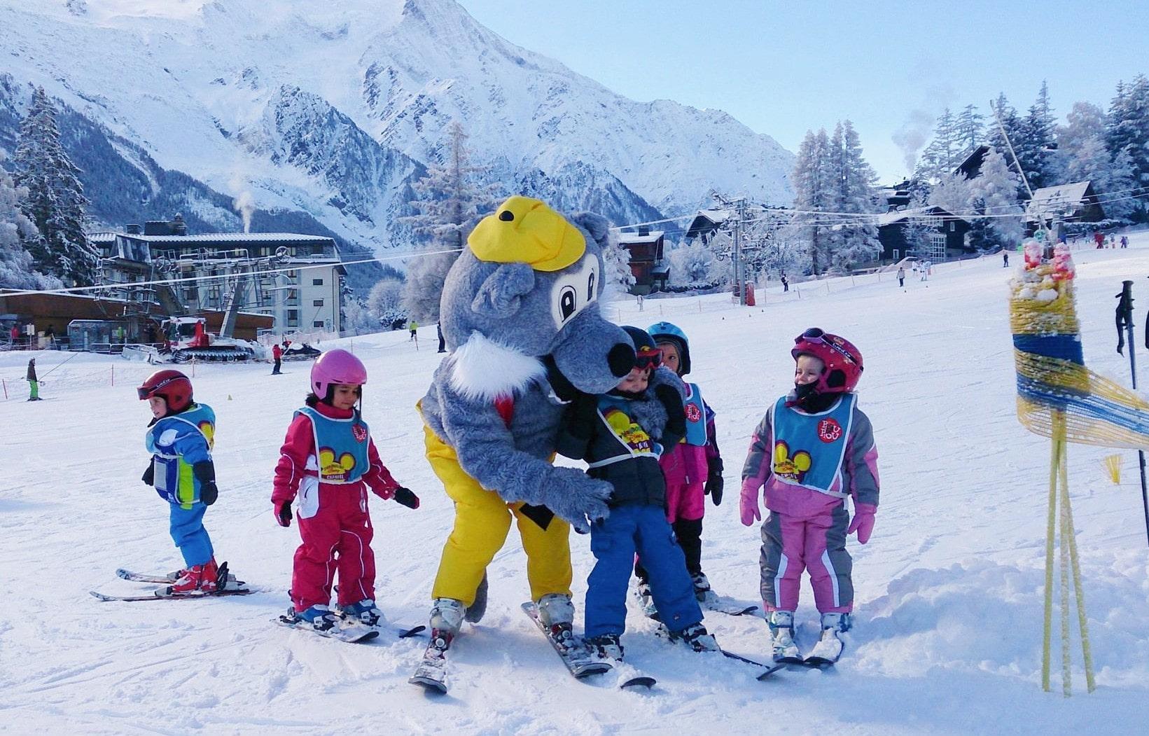 """Cours de ski pour Enfants """"Piou-Piou"""" (3-4 ans) à Chamonix"""
