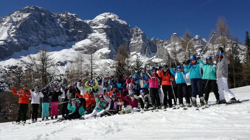 Clases de esquí para niños para avanzados