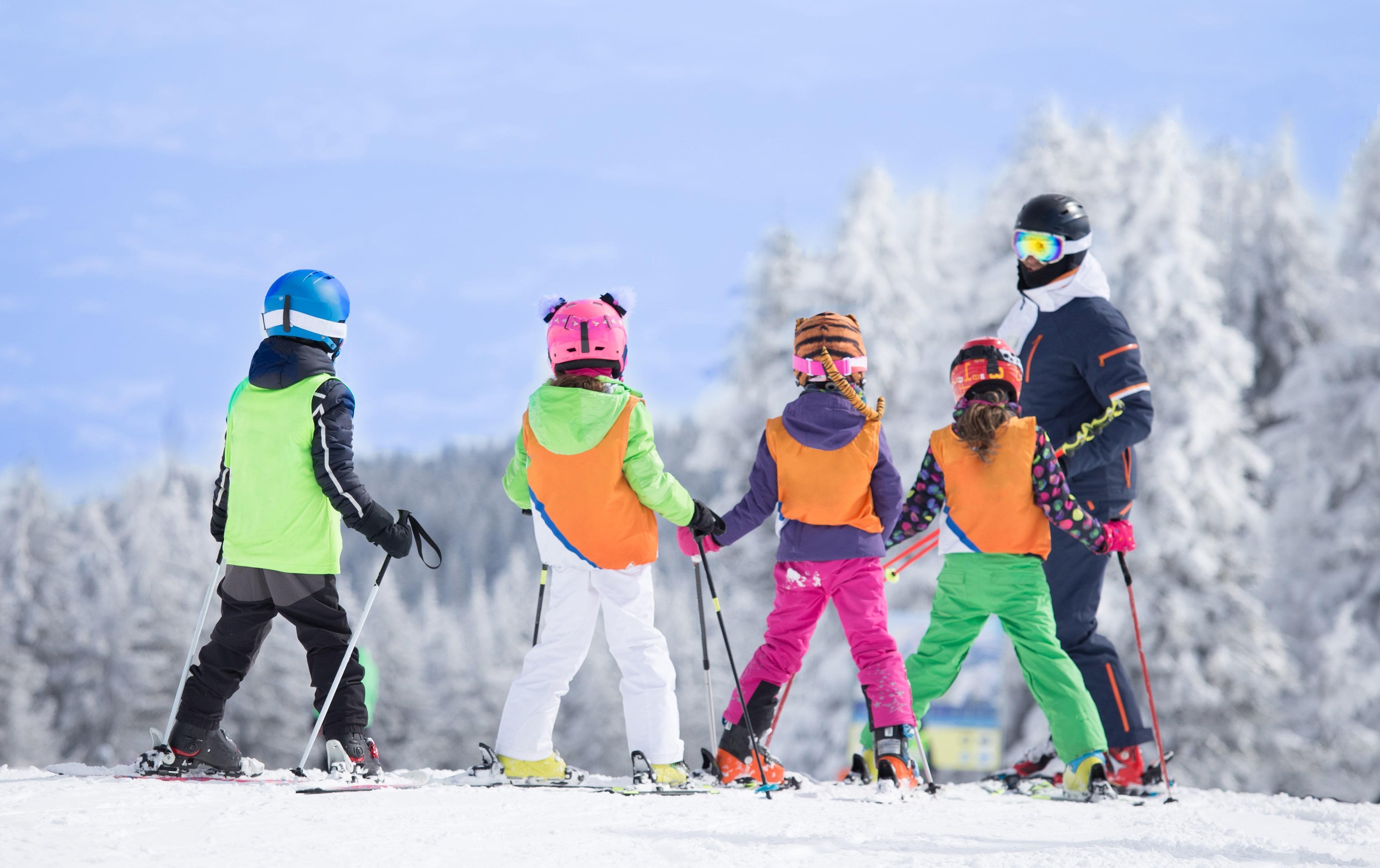 """Lezioni di sci bambini (4-13 anni) """"Full Day""""- Bassa Stag."""