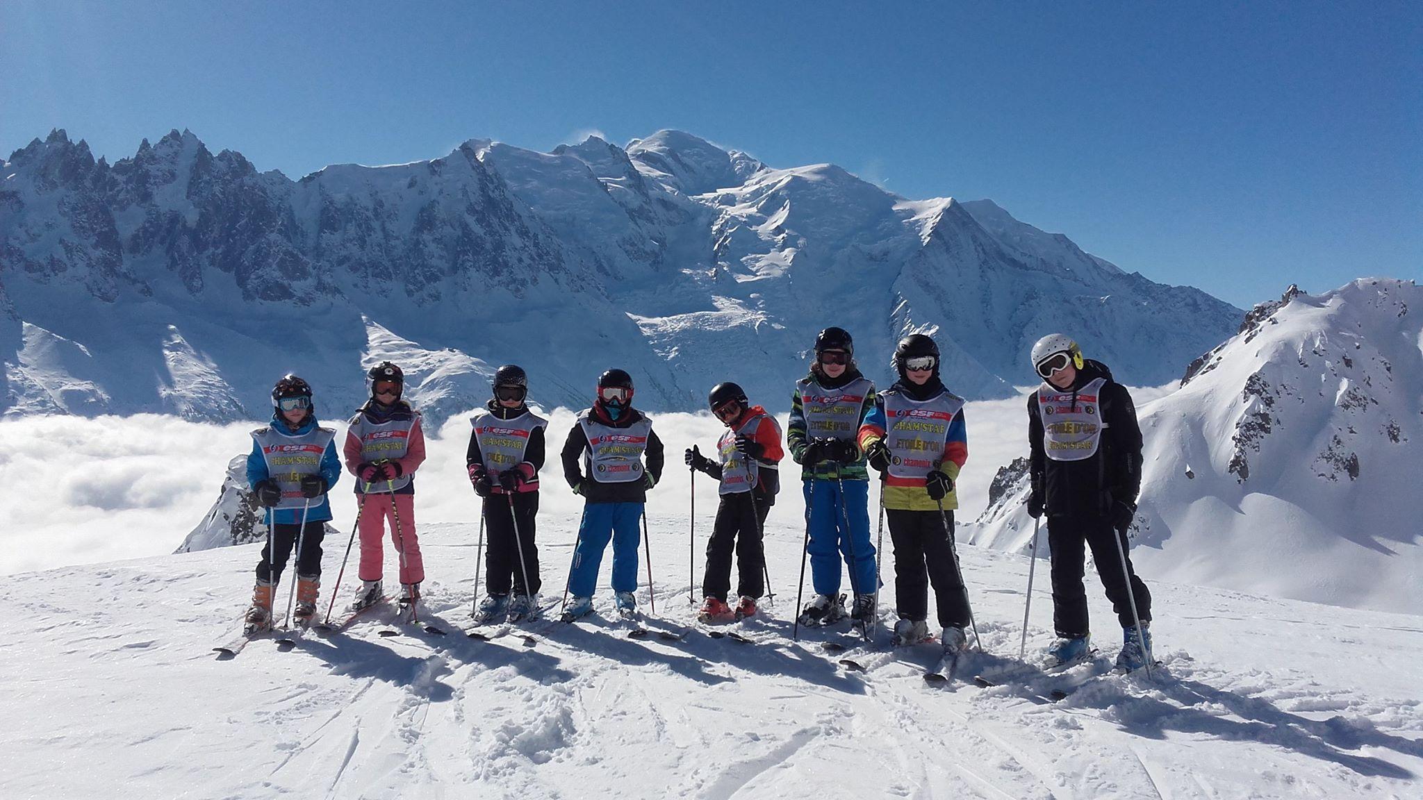 Cours de ski Enfants (8-12 ans) à Chamonix/Brévent -Vacances