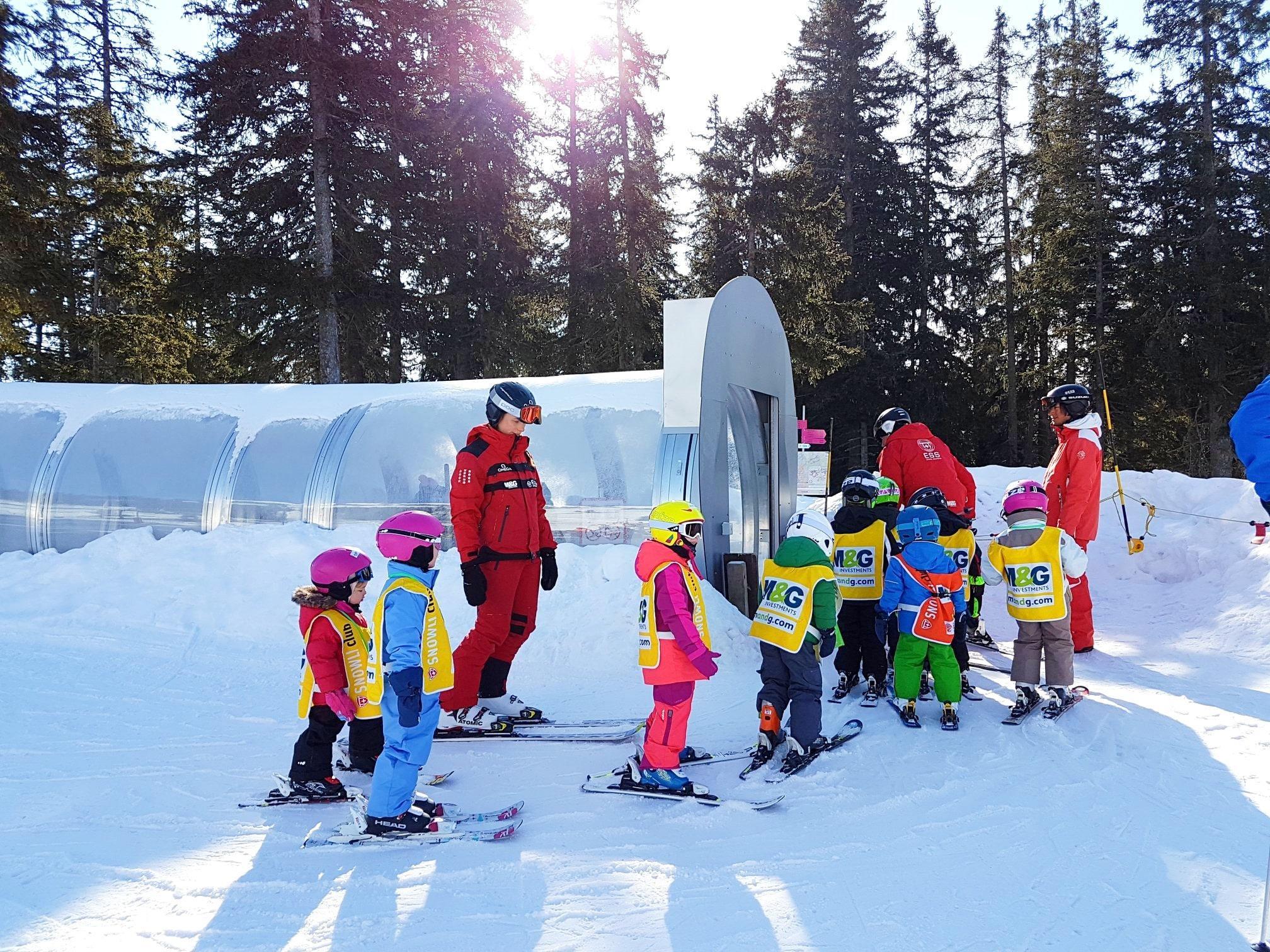 """Cours de ski Enfants """"Snowli Club"""" (4-6 ans)"""