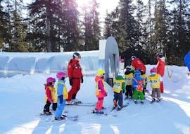 Skilessen voor kinderen vanaf 4 jaar - licht gevorderd met Swiss Ski School Crans-Montana