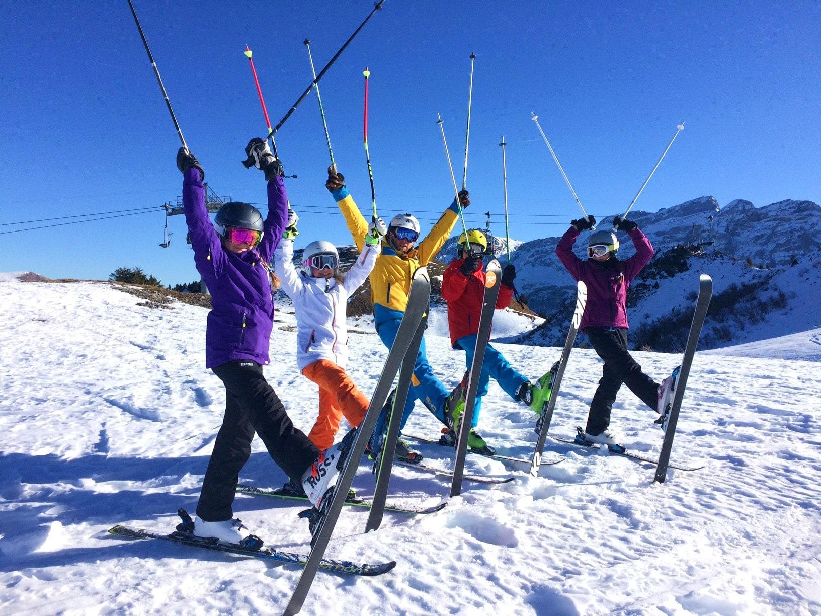"""Cours de ski Enfants """"Yellow Club"""" (9-16 ans) pour Avancés"""
