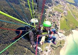 Tandem Paragliding over Achensee - Gliding Flight