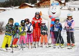 Skilessen voor kinderen vanaf 4 jaar - beginners met Ski and Snowboard School Selva Val Gardena