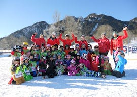 Ski Instructor team and kids group