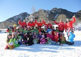 Ski Instructor team and kids group