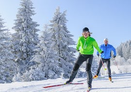 cross country skiers at the track