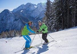 Ski Techniktraining auf der Piste