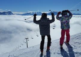 Moniteur de Ski Privé pour Adultes/Famille - Tous Niveaux