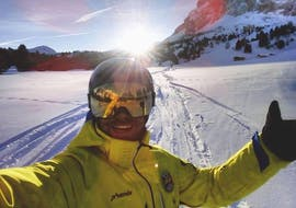 A boy snowboarding on the slopes of Val Gardena - Snowboard Instructor Private - All Levels & Ages