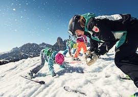 Skilessen voor kinderen vanaf 4 jaar voor alle niveaus met Scuola di Sci e Snowboard Dolomites San Cassiano