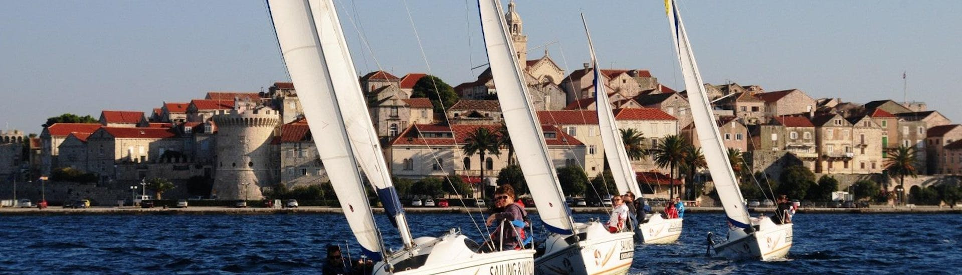 Half-day Sailing Keelboat Trip from Korčula with Swimming
