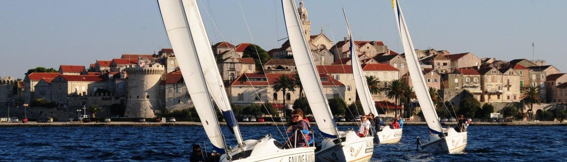 Full-day Sailing Keelboat Trip from Korčula with Swimming