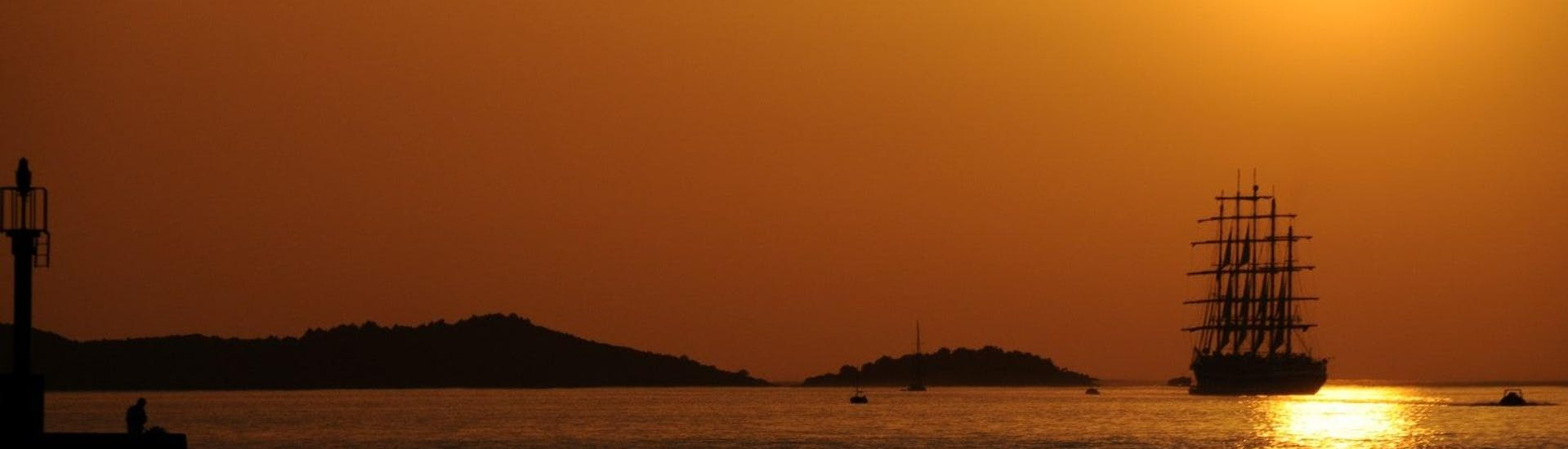 Sunset Sailing Yacht Trip from Korčula with Swimming