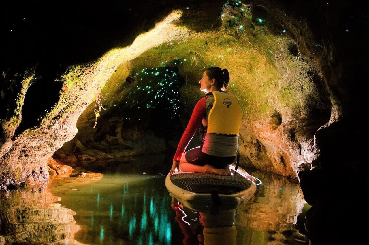 Paddle Board Rotorua - Glow Worm Tour Winter incl. Transfer
