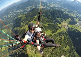 Panorama Tandem Paragliding in Werfenweng from Bischling