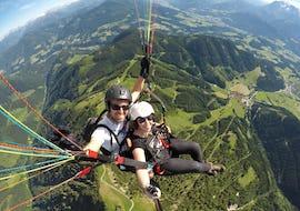 Panorama Tandem Paragliding in Werfenweng vom Bischling