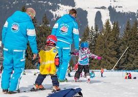 Kids enjoying their Ski Lessons (4-8 y.) - High Season - Afternoon with École de Ski 360 Samoëns.