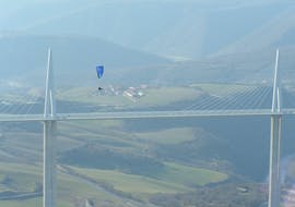 """An amazing landscape from the activity Tandem Paragliding """"XXL"""" - Millau with Air Magic Parapente."""