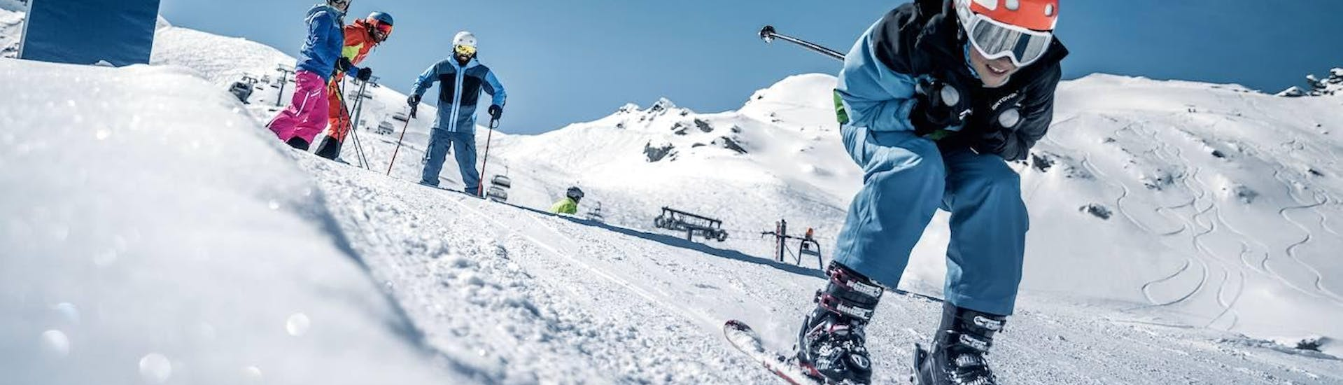 Teen Ski Lessons (12-15 y.) for All Levels with Snowsports Company Zell am See - Hero image