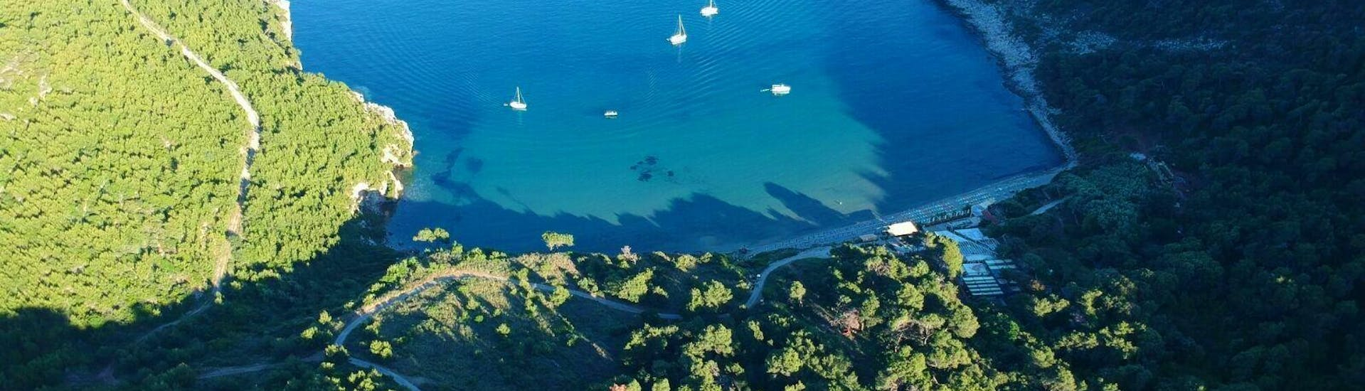 A breathtaking view on pristine landscapes that the tourists can enjoy during the Private Boat (4pax) to Elaphiti Islands with Snorkeling organised by Explore Dubrovnik by Boat.