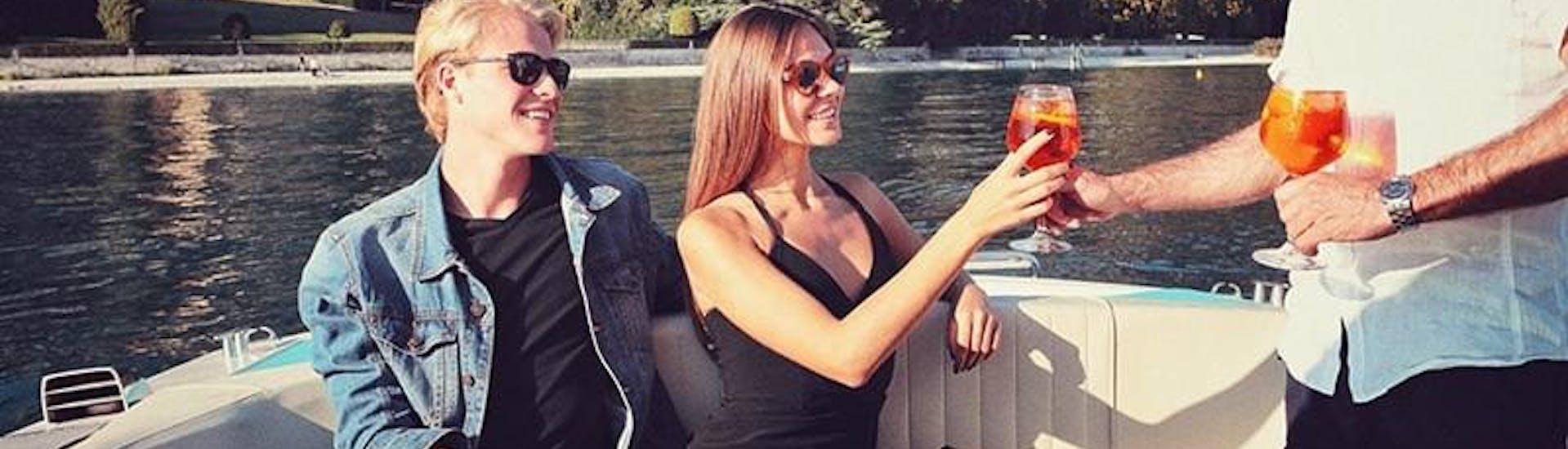 Private Boat Trip around Sirmione at Sunset with Aperitif with Bertoldi Boats Lago di Garda - Hero image