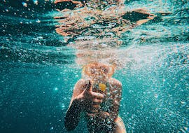 Kid snorkeling during his Private Boat Trip to Kornati archipelago & Telašćica with Toto Travel.