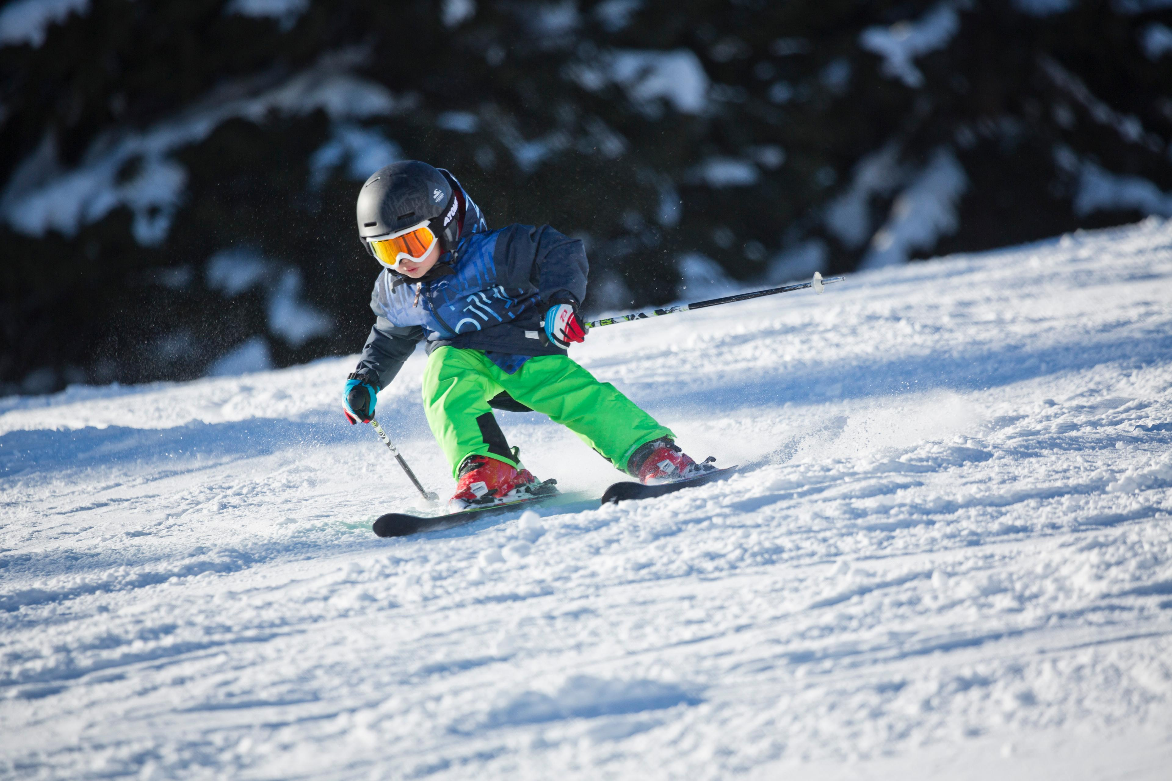 Clases de esquí privadas para niños para todos los niveles