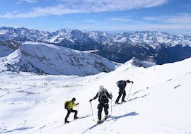 Together with the Private Ski Touring Guide in High Season from Escuela Ski Cerler, participants explore the beautiful mountain landscape.