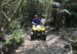 Having fun during quad biking safari in Taupo organized by Taupo Quad Adventures in Taupo.