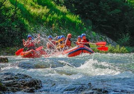"In full action during Rafting ""Classic"" - Savinja organized by Funpark Menina."