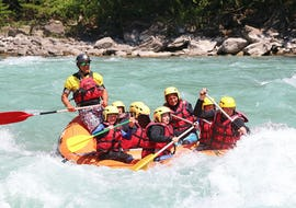 """Participants of the Rafting """"Far West"""" tour on the Guil and Durance with Latitude Rafting are enjoying their time on the water."""
